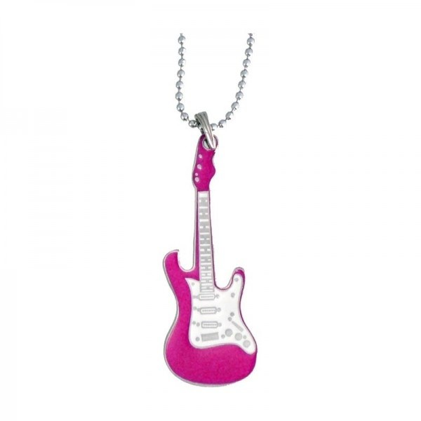 COLLAR GUITARRA ROSA