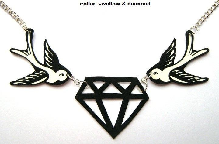 COLLAR SWALLOW & DIAMOND