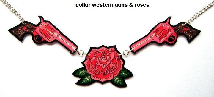 COLLAR WESTERN GUNS & ROSE